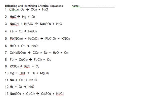 balancing chemical equations worksheet answers newatvs info