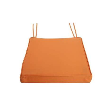 galette de chaise déhoussable galette de chaise 40x40 imperméable orange achat vente