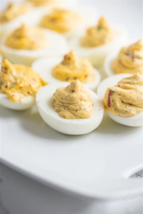 best deviled eggs red pepper chive deviled eggs the sweetest occasion
