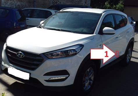 Hyundai Locator by Hyundai Tucson 2013 2018 Where Is Vin Number Find