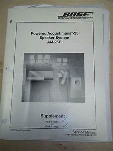 Bose Service Manual Powered Acoustimass 25 Speaker System