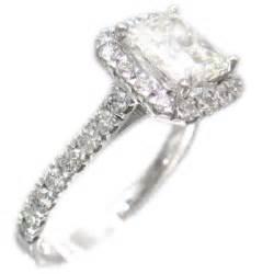 princess cut halo engagement rings 18k white gold princess cut engagement ring deco style halo 2 30ctw