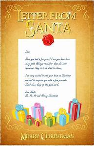 letter from santa http wwwcraftyjennycom free With a letter from santa free