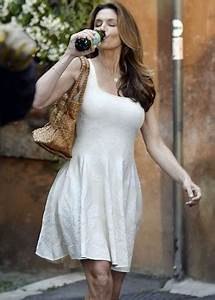 Cindy Crawford in Mini Dress on Photoshoot in Rome