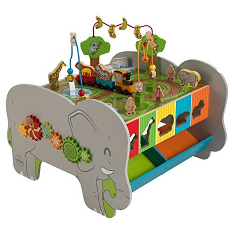 baby activity table wooden top rated best seller kids wooden play center