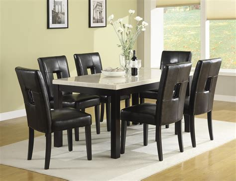 homelegance archstone pc dining table set  black