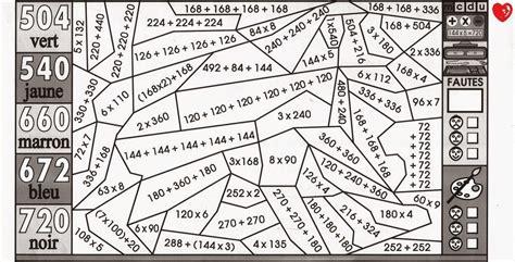 coloriage magique multiplication cm1 liberate