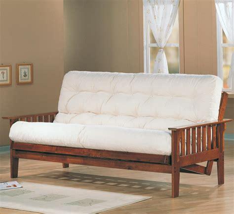 white wooden futon