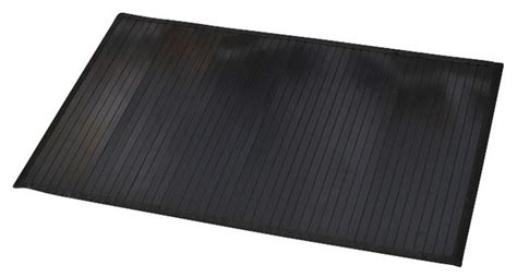 Bamboo Bath Mat Anti Slippery 31.5x20w Black