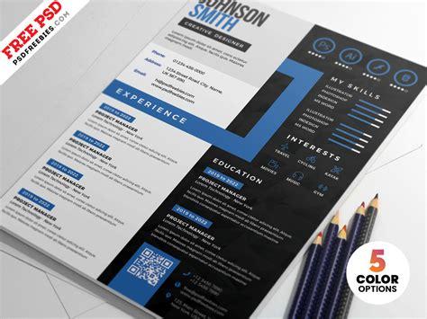 creative cv resume design psd templates  psd freebies