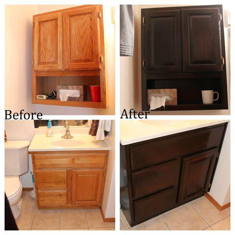 Staining Oak Bathroom Cabinets No Regrets Living