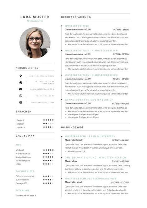 Darstellung Lebenslauf Bewerbung by Premium Lebenslauf Vorlage 8 1 Tips Resume Design