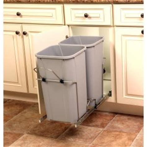 kitchen cabinet trash bin real solutions for real 18 75 in x 11 in x 22 in 5838
