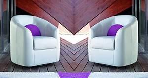 Fauteuil Pivotant Cuir : clotilde fauteuil pivotant ou fixe cuir ~ Teatrodelosmanantiales.com Idées de Décoration