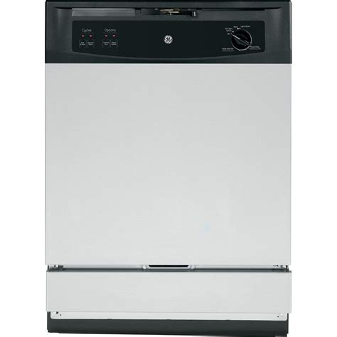 two dishwashers one ge front control under the dishwasher in stainless