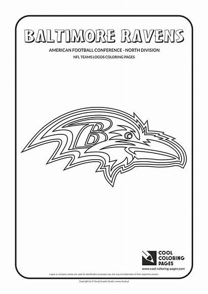 Nfl Coloring Pages Football Logos Ravens Baltimore