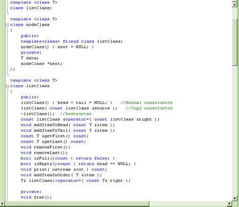 Template Class C C Linked List Class Template By Moosader On Deviantart