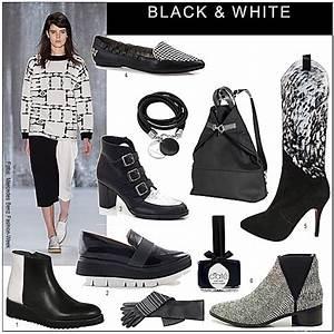 Herbst Schwarz Weiß : trend schuhe und stiefel in schwarz weiss die welt der schuhe ~ Orissabook.com Haus und Dekorationen