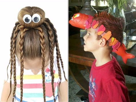Wacky Hairstyles For by The Best Hairdos From Hair Day At Schools Others