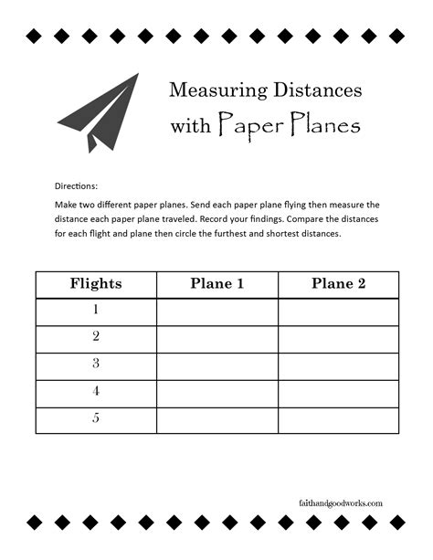 with paper planes use this free printable worksheet