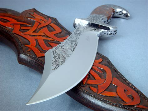 knife blade designs quot tribal quot helhor custom handmade knife sculpture by