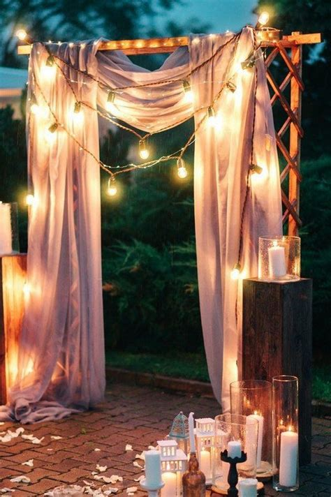 night wedding ceremony aisles  backdrops  lights page    puff