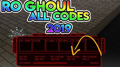 All Working 2019 Codes In Ro Ghoul! (ro Ghoul All Working