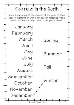 free mixed up months poster and worksheets by little green tpt