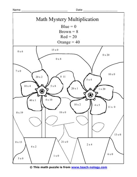 multiplication puzzle worksheets search results