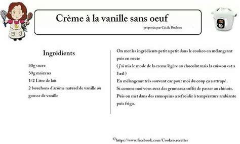 creme a la vanille sans oeufs cookeo desserts