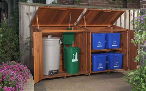 outdoor garbage storage outdoor recycling storage we single but it 1292