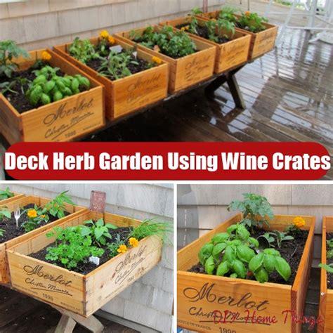 Deck Herb Garden Ideas Photograph