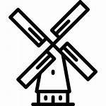 Windmill Icon Mill Freepik Clip Angin Wind