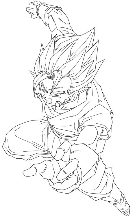 Goku And Vegito Free Coloring Pages