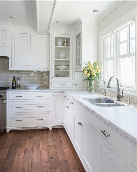 simple living wing accent white kitchen with inset cabinets home bunch interior