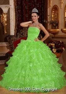 Neon Green And Blue Quinceanera Dresses