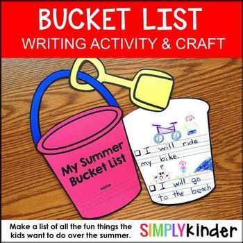 summer list craft by simply kinder teachers pay teachers