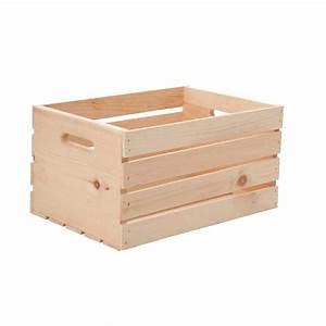 Caisse En Bois : caisse de bois en pin naturel 17 5 x 12 5 x 9 5 crat18 ~ Nature-et-papiers.com Idées de Décoration