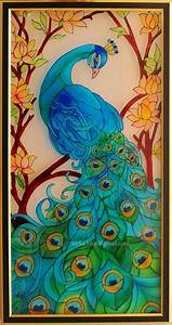 Peacock Drawing Outline For Glass Painting | www.pixshark ...