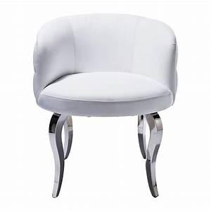 Fauteuil Design Blanc : fauteuil baroque blanc capitonne emporio kare design ~ Teatrodelosmanantiales.com Idées de Décoration