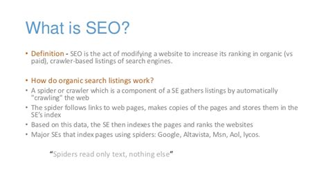 seo definition search engine optimization seo smo by sushen jamwal