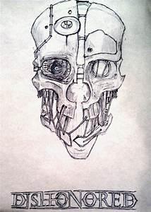 corvo mask drawing | Dishonored Costume | Pinterest ...