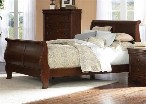 wood cherry wood sleigh bed   build  easy diy