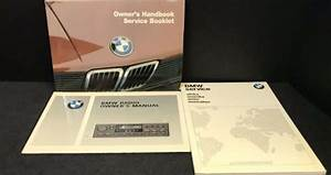 1984 Bmw 5 Series Owners Manual Handbook  Original Bmw
