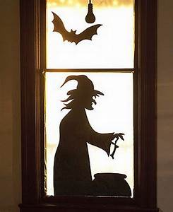 34 scary outdoor halloween decorations and silhouette for Halloween window silhouettes template
