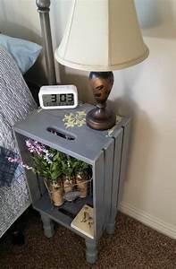 Table De Nuit Murale : meuble en cagette tuto et id es pour cr er un mobilier colo au charme brut obsigen ~ Teatrodelosmanantiales.com Idées de Décoration