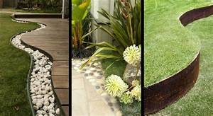 idees jardin 20 bordures qui ont de l39allure mon With delightful maison en rondin prix 11 deco jardin avec rondin de bois