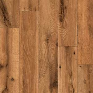 shop allen roth 496 in w x 423 ft l lodge oak With handscraped laminate flooring reviews