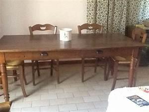 Table En Bois Massif Ancienne : table ancienne bois massif clasf ~ Teatrodelosmanantiales.com Idées de Décoration