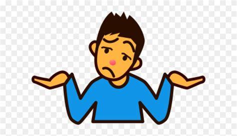 shrug cliparts shrugging shoulders emoji png